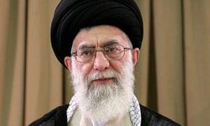 Iran's supreme leader Ayatollah Ali Khamenei at an official ceremony