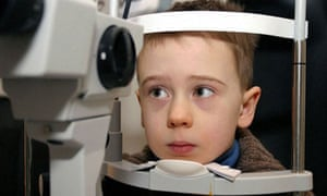 Many young children in the UK are not having their eyes tested