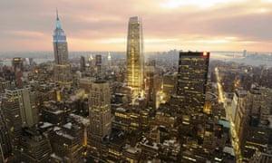 Artist's impression of proposed New York skyscraper