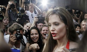 Angelina Jolie in Moscow last month