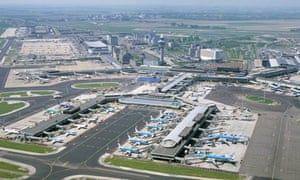 Aerial view of Schipol airport in Amsterdam