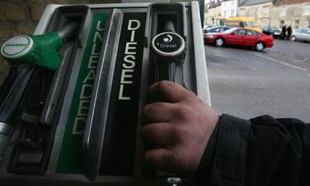 Diesel and petrol pump