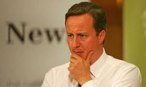 David Cameron with signs of grey hair