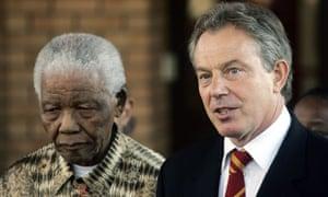 Tony Blair, Nelson Mandela