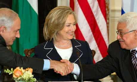 Netanyahu with Abbas and Clinton