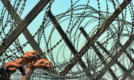 Iraqi detainees at Abu Ghraib prison