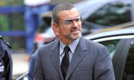 George Michael arrives at Highbury Corner magistrates court in London
