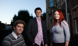 Young Liberal Democrats Nick Coombes Natalie Jester and Sam Lawes