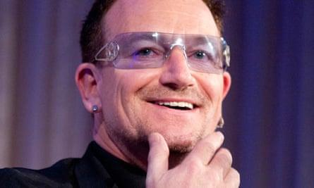Bono at the 2010 Atlantic Council awards dinner