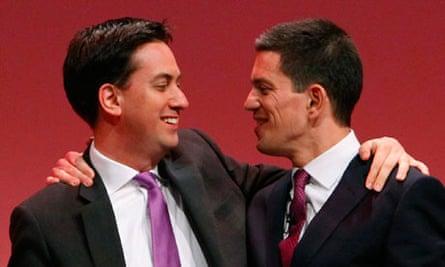 Ed Miliband greets his brother David Miliband