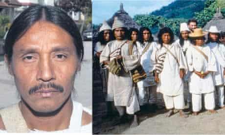 Jacinto Zabareta in north London and members of the Kogi people