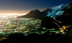 Cape Town Table Mountain night