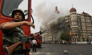 Taj Mahal hotel burns during terror attack in Mumbai
