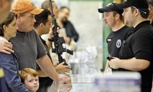 Customers in a Texas gun shop