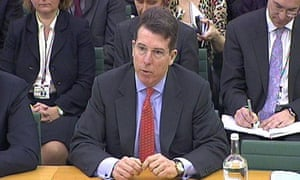 Bob Diamond in front of the Treasury select committee