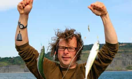 Hugh Fearnley-Whittingstall with mackerel