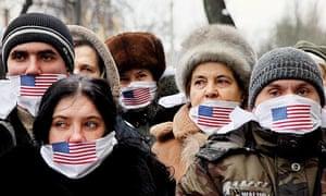 Kiev Ukraine Assange protest