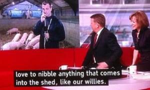 BBC Breakast subtitle bloomer