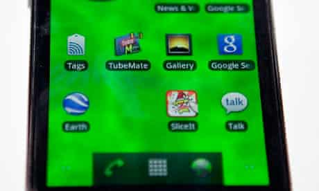 Android being run on a Samsung smartphone