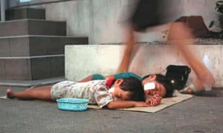 thailand child beggars