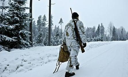 A wolf hunter in Hasselforsreviret, Sweden.