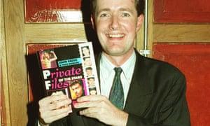 Piers Morgan when showbiz editor of the Sun