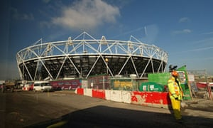 The Olympic Stadium is pictured through