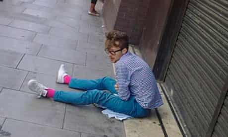 A Hipster on the streets of east London