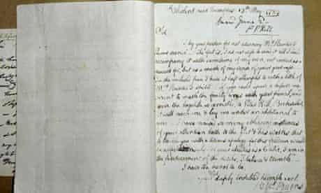 Robert Burns letter found
