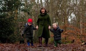 Sarah Franklin and children