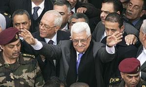 The Palestinian president Mahmoud Abbas