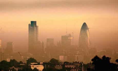 London pollution haze