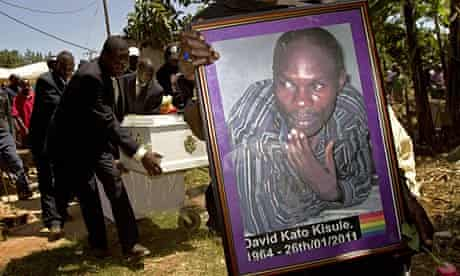 The funeral of Ugandan gay community activist David Kato