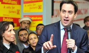 Ed Miliband in Oldham East