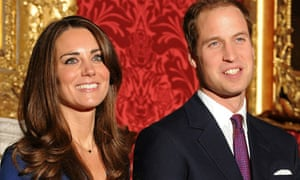 Prince William and Kate Middleton at their engagement photcall
