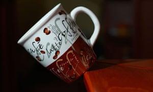 A falling coffee mug