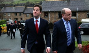 Nick Clegg on the campaign trail
