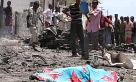 Suicide bomb victim in Somalia's capital Mogadishu