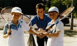 Judy Murray with Andy Murray and Jamie Murray