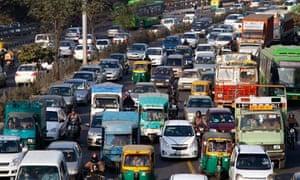 Traffic in Delhi