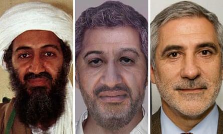 Osama Bin Laden, an age-progression image of Osama bin-Laden and Spanish MP Gaspar Llamazares