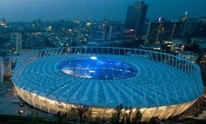 Euro 2012 soccer stadium in Kiev