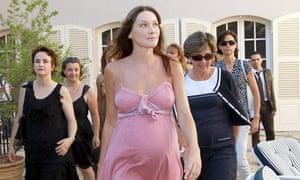 Carla Bruni and her bump, July 2011