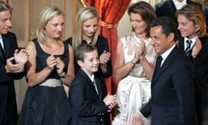 Nicolas Sarkozy and his family, 2007