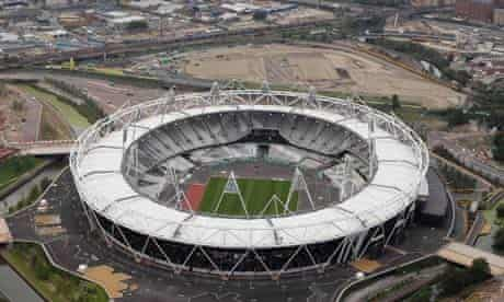 An aerial view of the Olympic stadium, July 2011