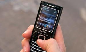 mobile phone hand