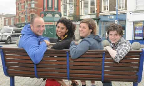 Tom Parry, Aisha Mirza, Josie Long and Grace Petrie in Sheerness