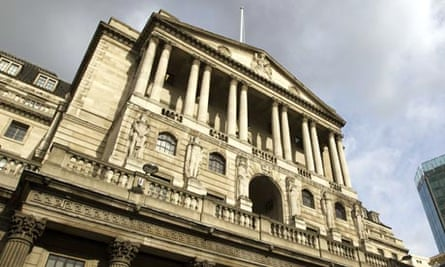 the bank of england under a cloudy sky