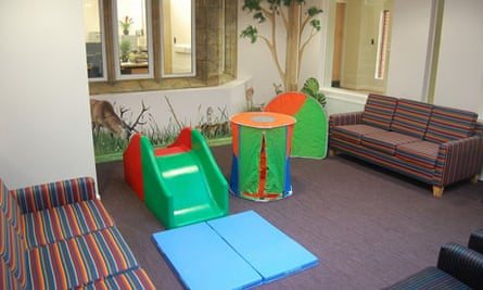 The 'child-centred' visitors lounge at Cedars.