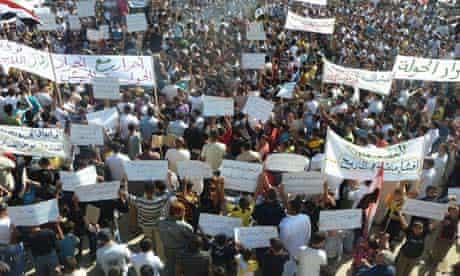 Demonstrators in Hula